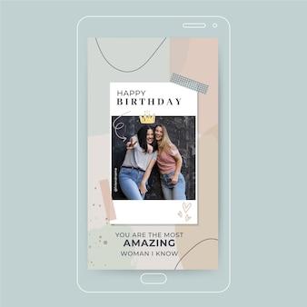 História de feliz aniversário no instagram