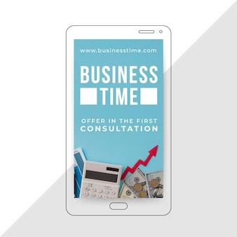 História de instagram de negócios com foto e texto