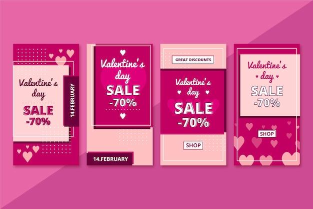História de liquidação do dia dos namorados com oferta