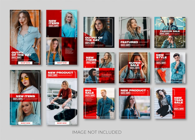 História do instagram de moda ou modelo de banner