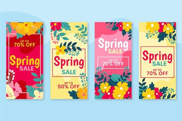 História do instagram de venda de primavera