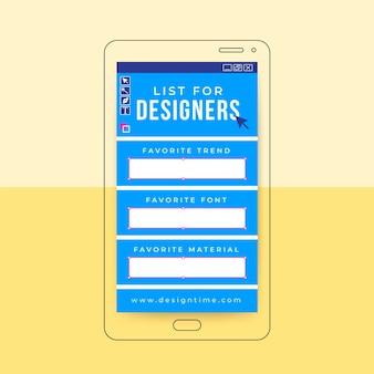 História do instagram do design da grade