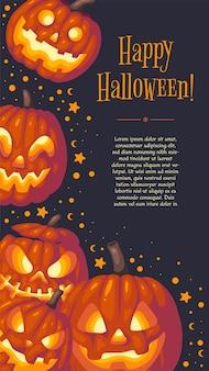 História do instagram do halloween Vetor Premium