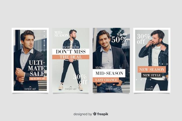 Histórias abstratas do instagram de venda de moda