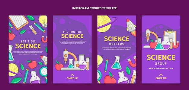 Histórias científicas ig desenhadas à mão