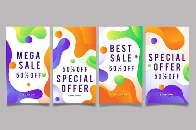 Histórias coloridas abstratas da venda do instagram