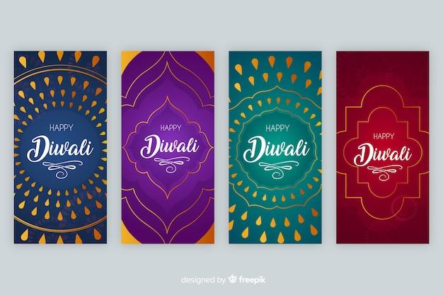 Histórias coloridas do instagram de diwali