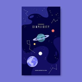 Histórias criativas do instagram de galáxias abstratas