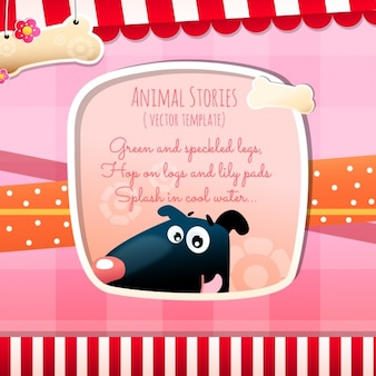 Histórias de animais, cão e osso