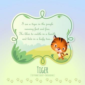 Histórias de animais, o pequeno tigre