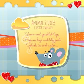 Histórias de animais, rato e queijo