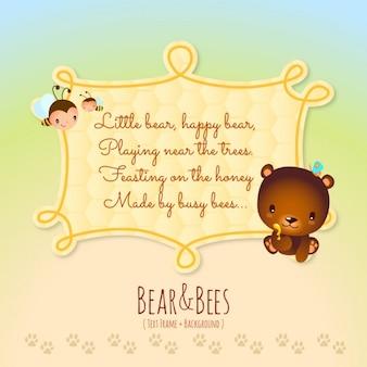 Histórias de animais, urso e abelhas