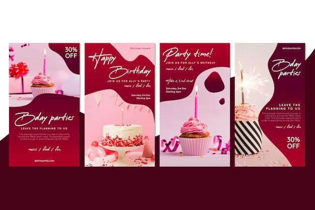 Histórias de aniversário no instagram