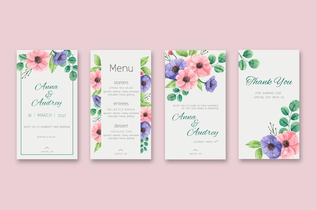 Histórias de casamento floral