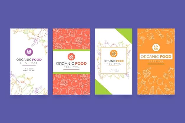 Histórias de comida orgânica no instagram