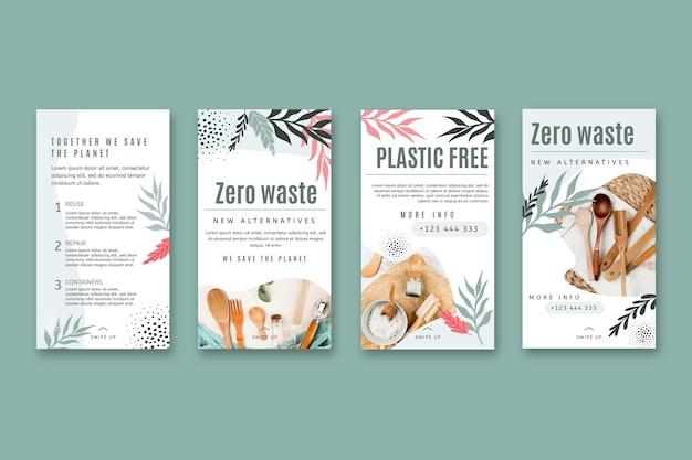 Histórias de desperdício zero no instagram