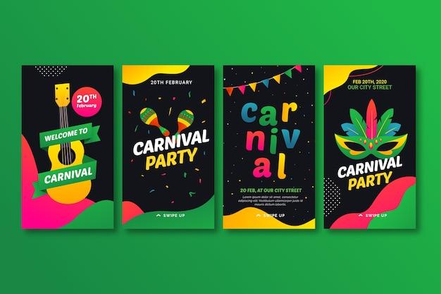 Histórias de festa de carnaval para instagram