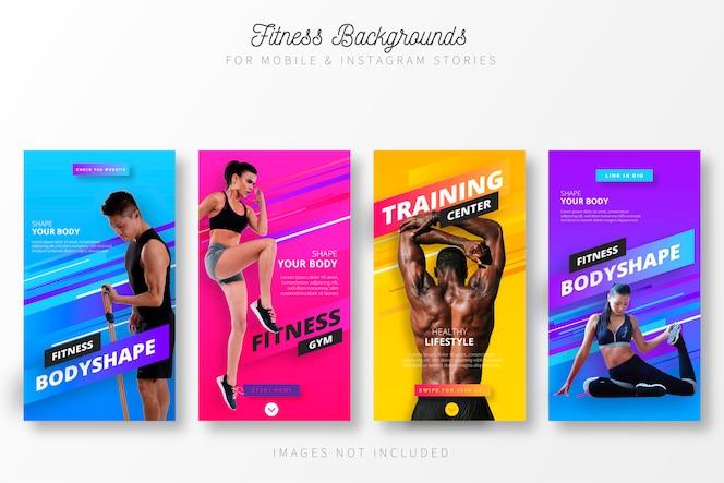 Histórias de fitness para insta