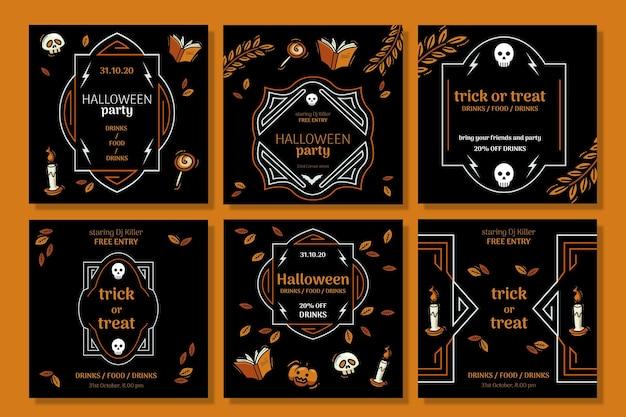 Histórias de halloween no instagram