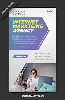 Histórias de instagram de agência de marketing de internet
