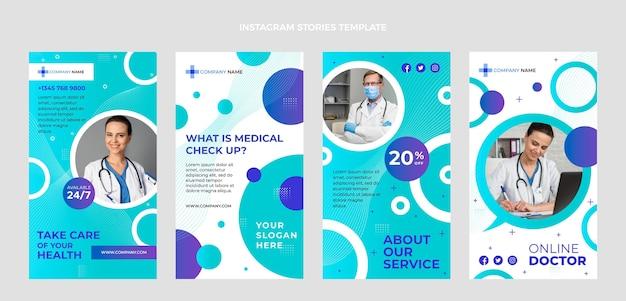 Histórias de instagram de atendimento médico gradiente
