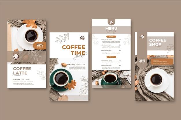 Histórias de instagram de cafeteria