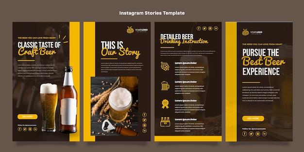 Histórias de instagram de comida americana de design plano