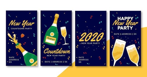 Histórias de instagram de festa de ano novo de 2021