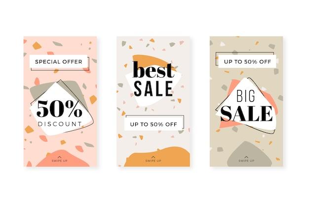 Histórias de instagram de grande venda estilo desenhado à mão de terraço