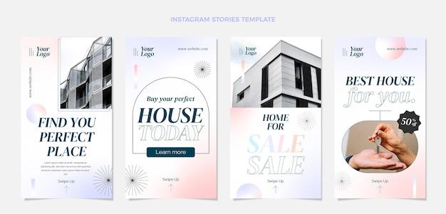 Histórias de instagram de imóveis em gradiente