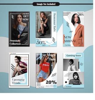 Histórias de instagram de mídia social moda simples modelo de design moderno