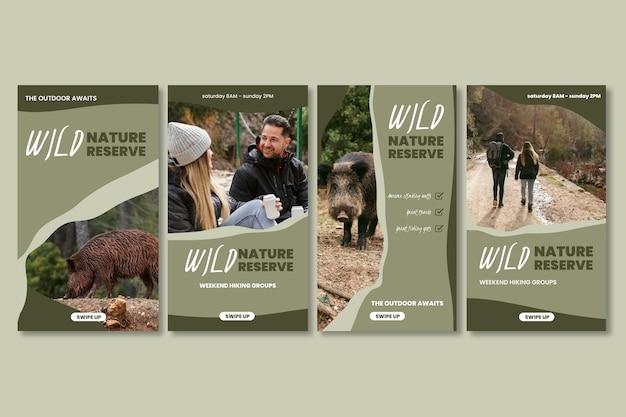Histórias de instagram de natureza selvagem