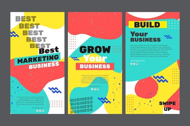 Histórias de instagram de negócios de marketing