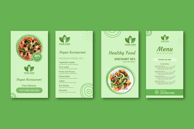 Histórias de instagram de restaurantes saudáveis