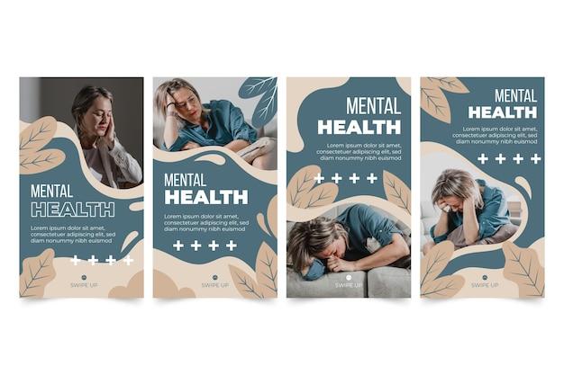 Histórias de instagram de saúde mental com foto