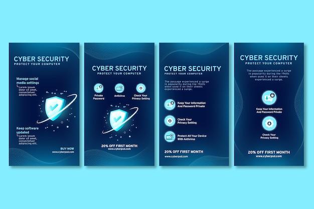 Histórias de instagram de segurança cibernética