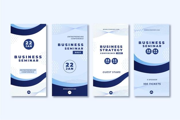 Histórias de instagram de seminário de negócios