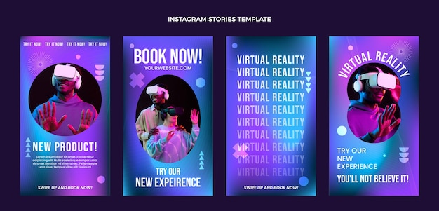 Histórias de instagram de tecnologia de fluidos abstratos de gradiente