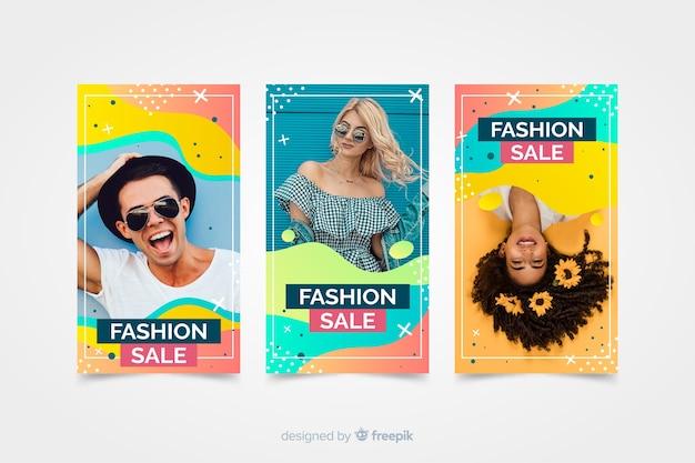 Histórias de instagram de venda de moda com foto