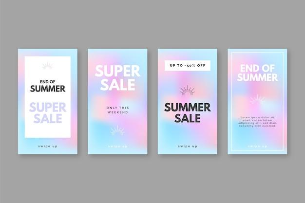 Histórias de instagram de venda de verão