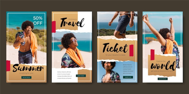 Histórias de instagram de venda de viagens