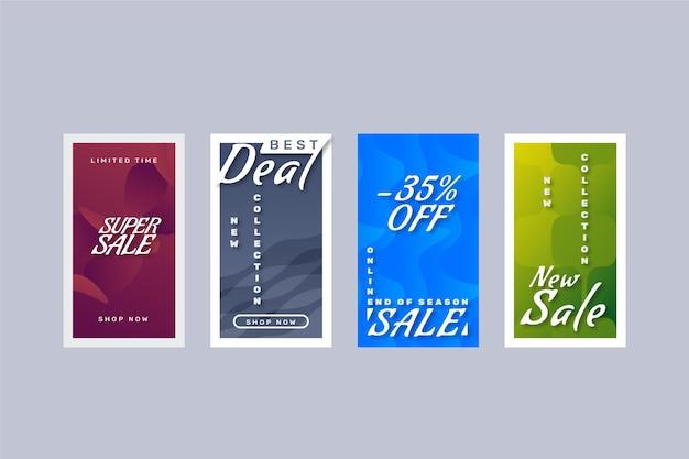 Histórias de instagram de venda gradiente