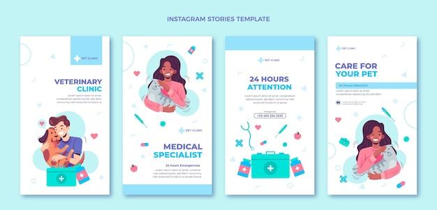 Histórias de instagram médicas de design plano