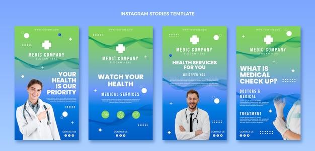 Histórias de instagram médico de gradiente