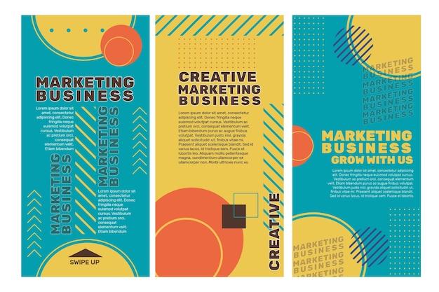 Histórias de marketing de negócios no instagram
