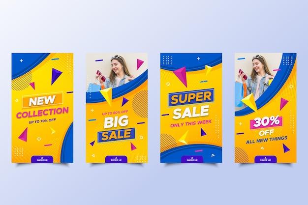 Histórias de mega venda nas redes sociais com oferta