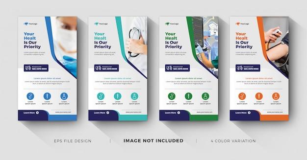 Histórias de negócios médicos no instagram