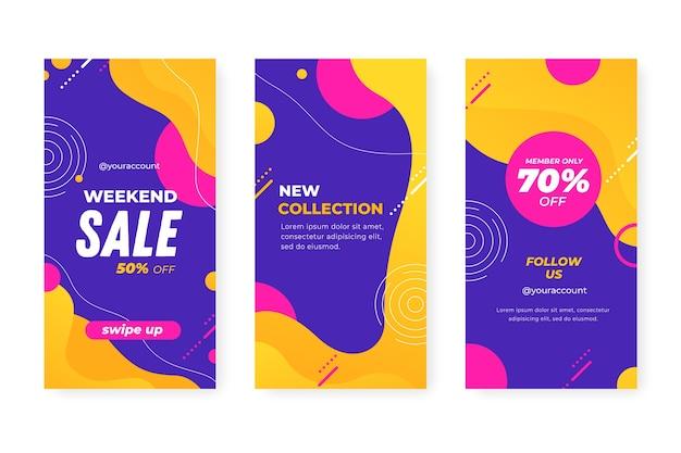 Histórias de venda coloridas abstratas do instagram