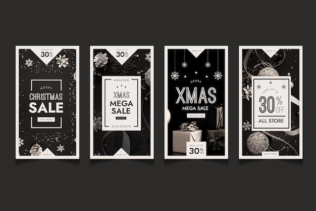 Histórias de venda de natal no instagram