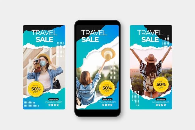 Histórias de venda de viagens no instagram